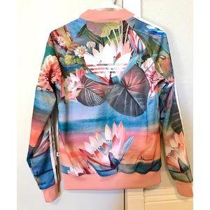 "f671faaa3bb3 adidas Jackets   Coats - Adidas Original ""Curso D agua"" Floral Jacket"